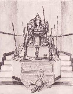 Balinese Ganesha Temple sketch
