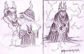 The Mezmerizer VS. Octogirl and Overcompensation Man (Pencils)