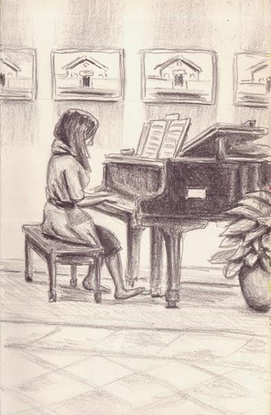 Pianist at Martha Jefferson by Scott DuBar