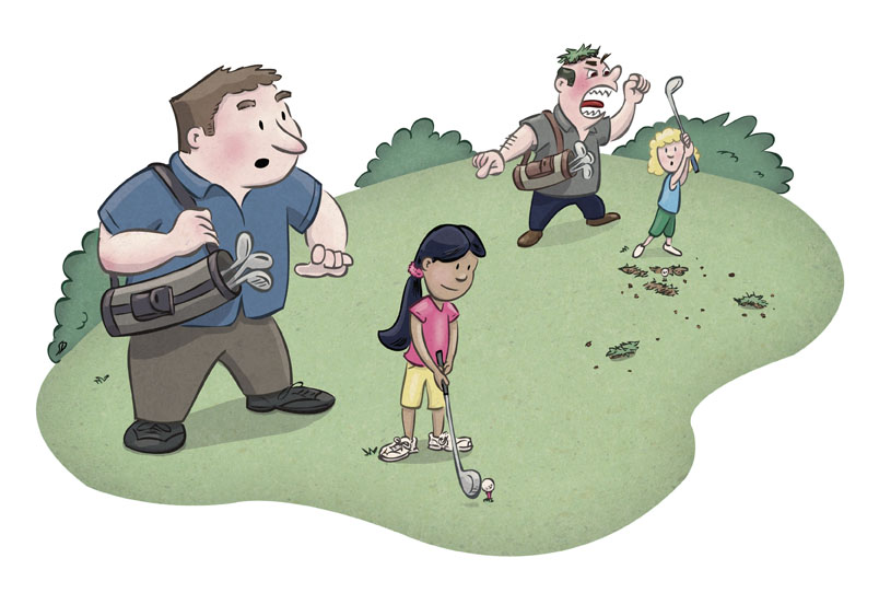 Life Lesson Golf Illustration | Client: Integrity Golf
