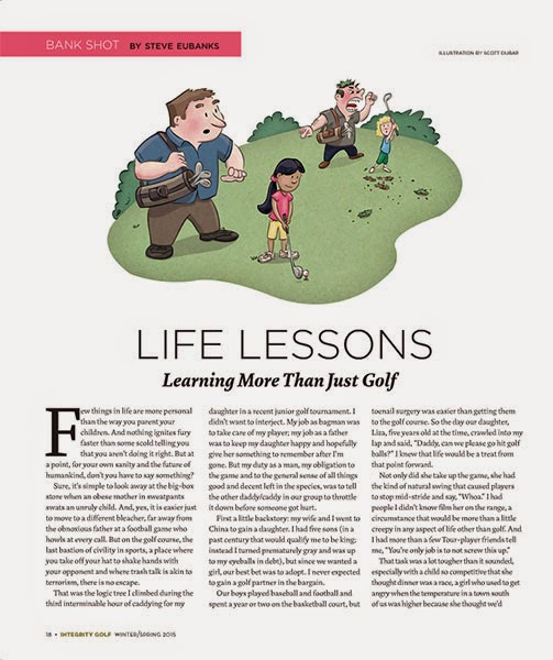 Life Lesson Golf Illustration Tearsheet | Client: Integrity Golf