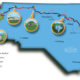 Mountains to Sea Trail Map and Franklin County