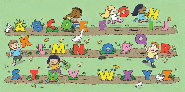 Alphabet Garden illustration by Scott DuBar