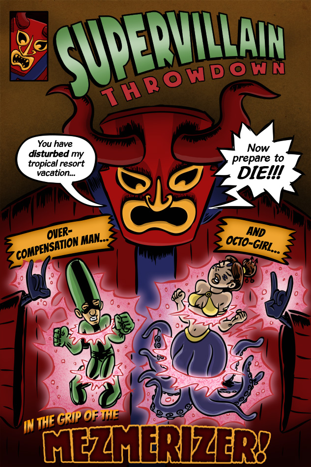 Webcomic Supervillain Throwdown cover art by illustrator Scott DuBar