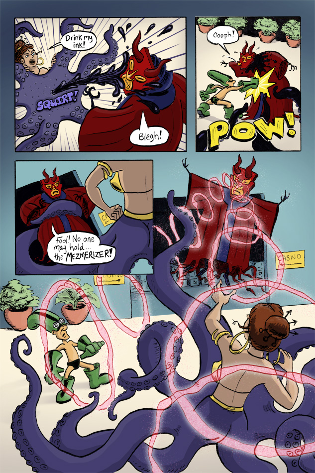 Webcomic Supervillain Throwdown page 3 by illustrator Scott DuBar