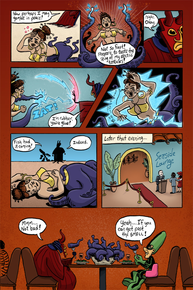 Webcomic Supervillain Throwdown page 4 by illustrator Scott DuBar