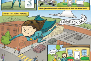 Wonder Realtor Part 2 ad for C-ville Weekly, illustrated by Scott DuBar