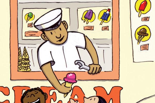Ice Cream Man illustration by Scott DuBar