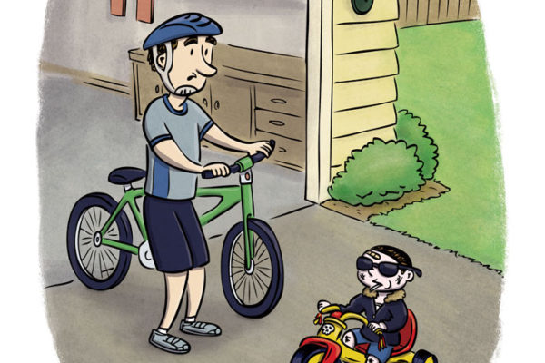 Toddler Intimidation illustration by Scott DuBar