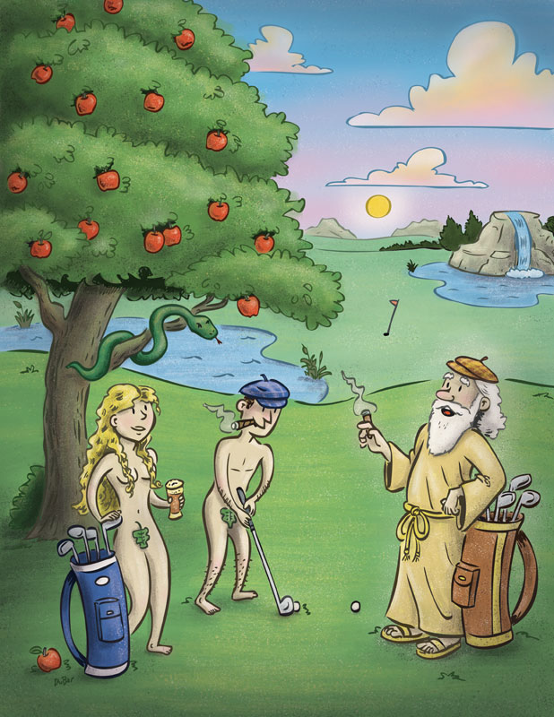 In The Beginning There Was Golf, illustration by Scott DuBar