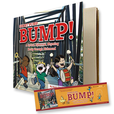 Short Pump Bump signed by illustrator Scott DuBar