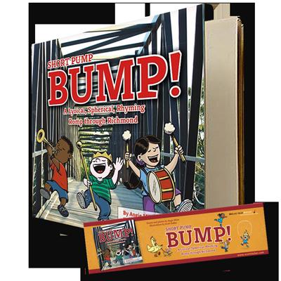 Short Pump Bump signed by illustrator Scott DuBar