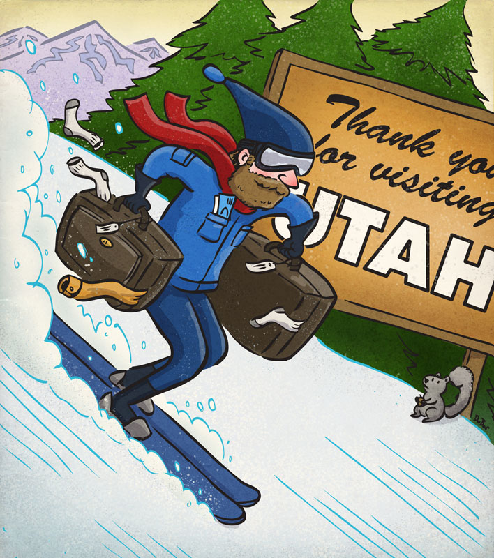 Three-Year Plan | Client: Utah Adventure Journal | illustration by Scott DuBar