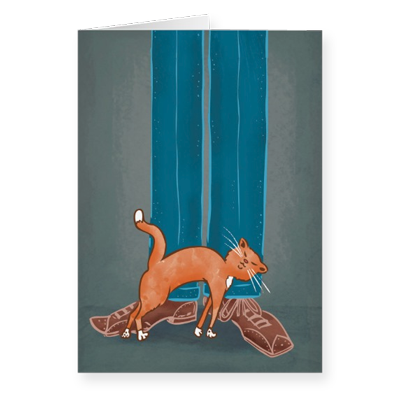 Pet Me! greeting card by illustrator Scott DuBar