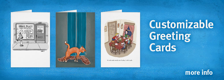 Greeting cards available from illustrator Scott DuBar