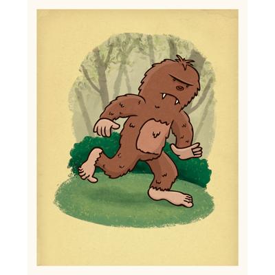 Bigfoot art print by illustrator Scott DuBar
