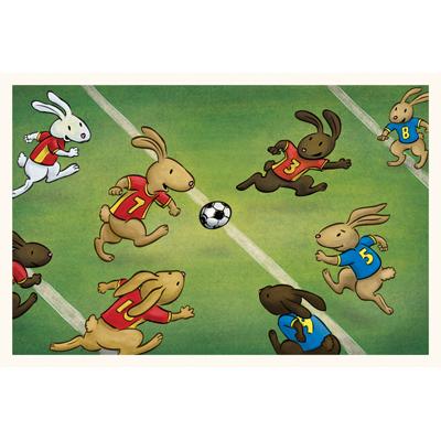 Bunny Soccer art print by illustrator Scott DuBar