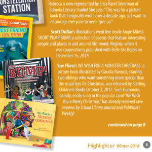 Short Pump Bump featured in SCBWI Highlighter