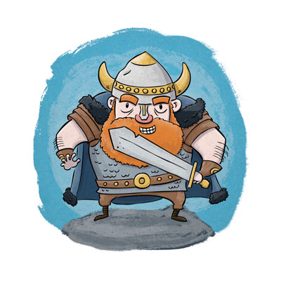 Viking art print by illustrator Scott DuBar