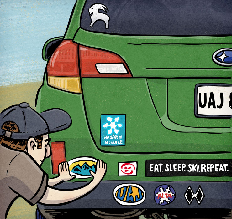 Put A Sticker On It | Client: Utah Adventure Journal | by illustrator Scott DuBar
