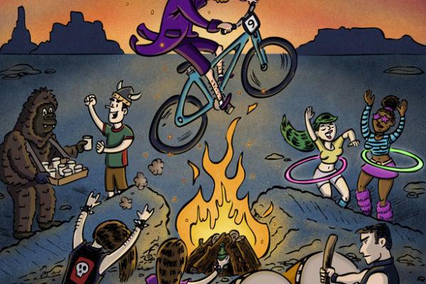 Bike Race Burning Man | Client: Utah Adventure Journal | illustration by Scott DuBar