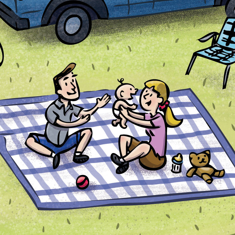 The Camping Compromise by illustrator Scott DuBar