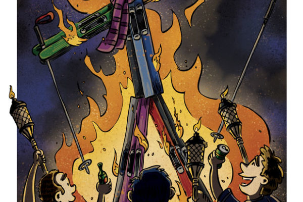 Burning Sean by illustrator Scott DuBar