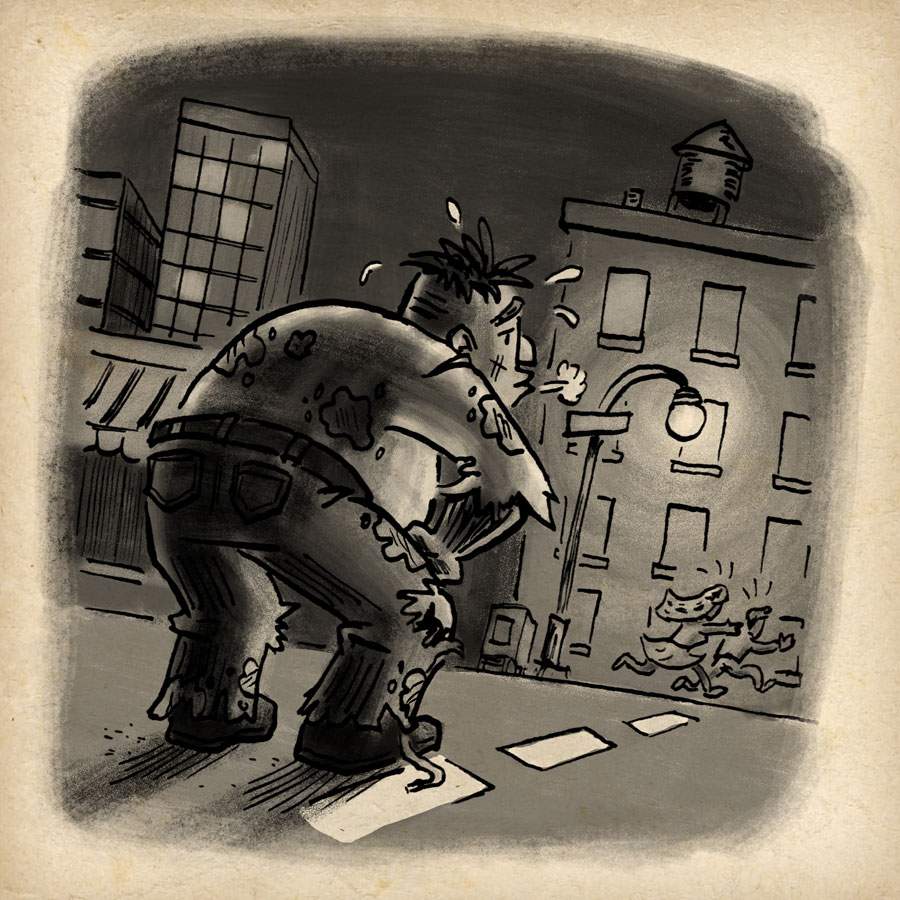 Inktober 2018 zombie by illustrator Scott DuBar