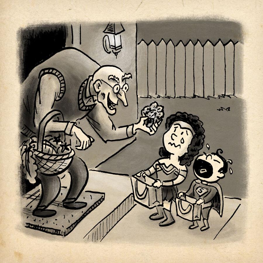 Cruel   Inktober Day 11 by illustrator Scott DuBar