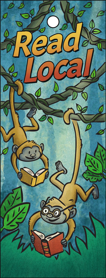 Read Local bookmark 2018 illustration by Scott DuBar