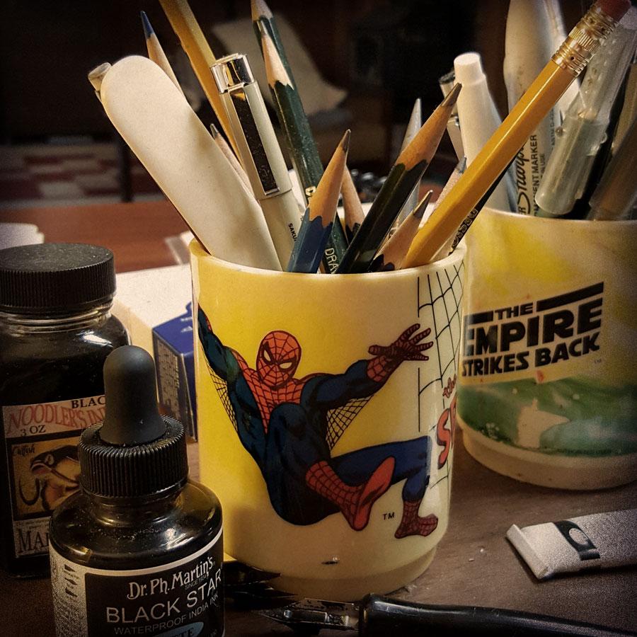 Vintage 1970's Amazing Spider-Man mug.