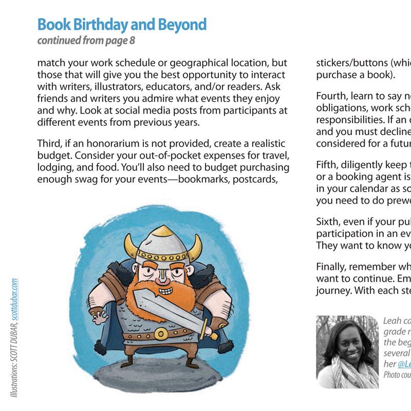 Viking SCBWI Highlighter illustration by children's book illustrator Scott DuBar