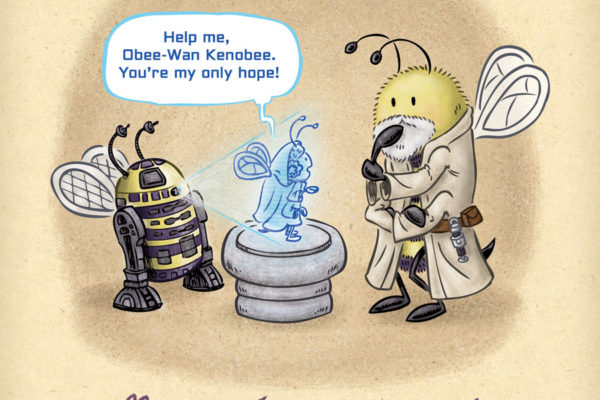Happy #StarWarsDay! R2-D2 delivers a message to Obi-Wan in his home on Tatooine.
